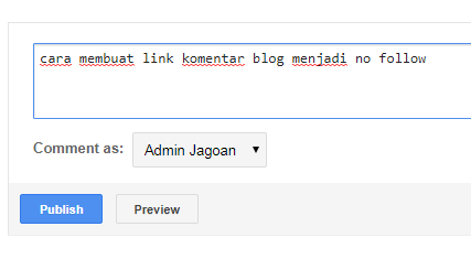 cara membuat link komentar blog menjadi no follow