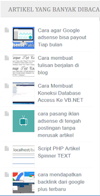Cara Membuat Widget Artikel Acak(randompost) Di Blog