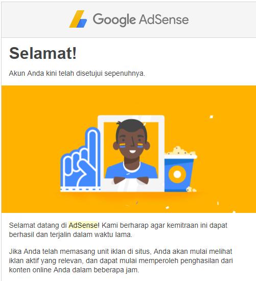 Balasan Email Google Adsense Yang Diterima