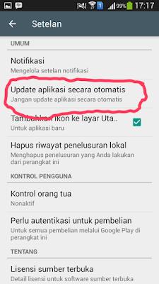 Matikan Update Otomatis Android
