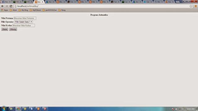 Program Perhitungan Aritmatika Dengan PHP