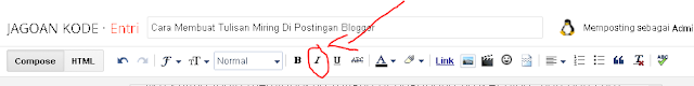 Cara Meiringkan tulisan di blogger