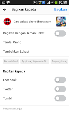 Cara upload Foto/Video Instagram Di Android