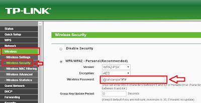 cara ganti password wireless