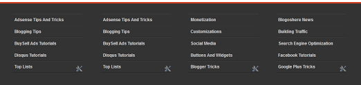 Cara Membuat Widget Footer 4 kolom sederhana Keren Responsive di Blogger
