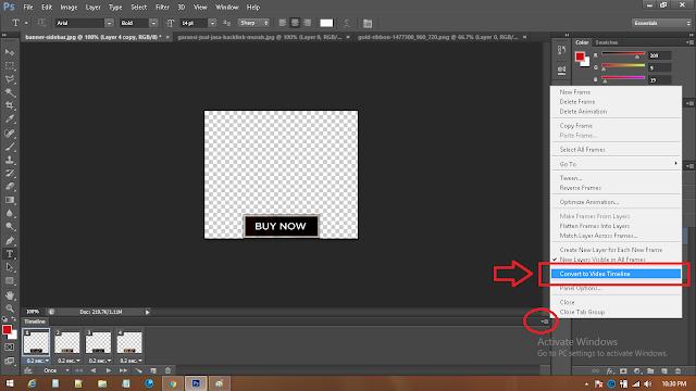 cara mengubah timeline animasi ke video1