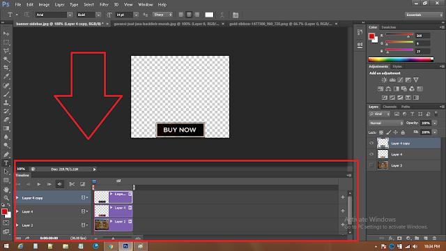 cara mengubah timeline animasi ke video2