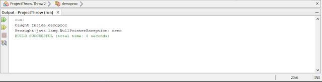 Contoh Program Throw Dan Throws Pada Java