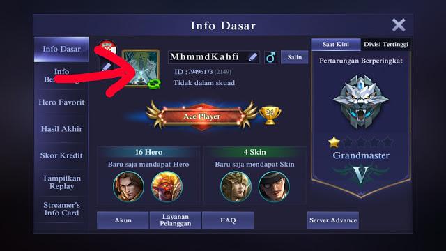 Cara Merubah Foto Profile Mobile Legends