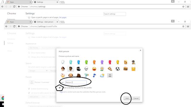 Membuat Banyak Browser Dengan Google Chrome