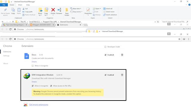 Cara Memasang Ekstensi IDM Ke Google Chrome