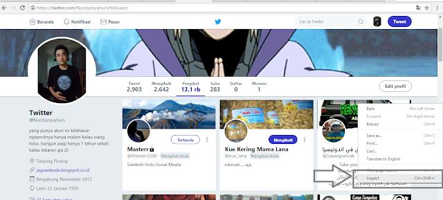 Cara Follow Cepat Banyak Akun Twitter