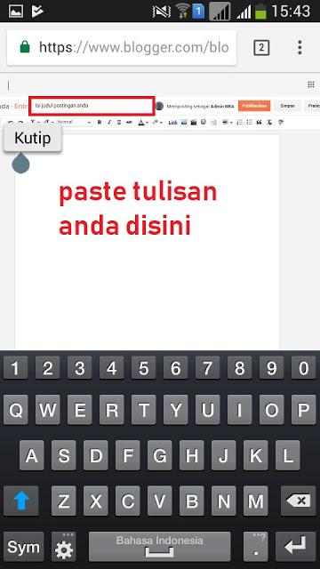 Cara Posting Blog Lewat Hp Android