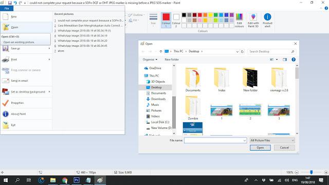 Mengatasi JPEG Marker Is Missing Di Photoshop Saat Membuka Gambar