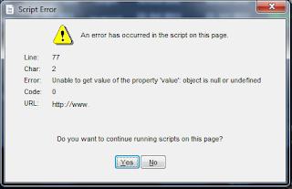 Mengatasi Script Error Web Browser VBNET