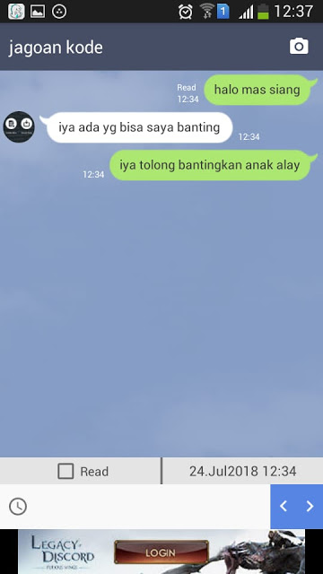 aplikasi fake chat line(chat palsu line)