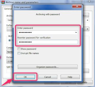 bagaimana cara mengunci file rar
