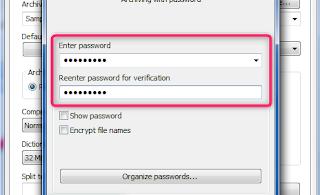 Cara Mengunci File Rar Zip Dengan Password