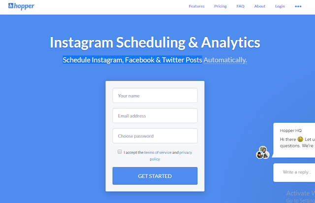 instagram schedulling post automatically