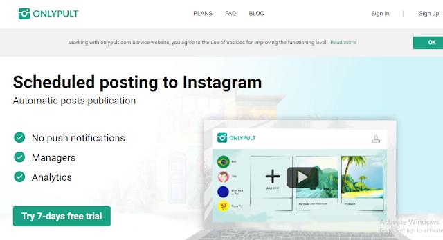instagram schedulling post otomatis dengan waktu