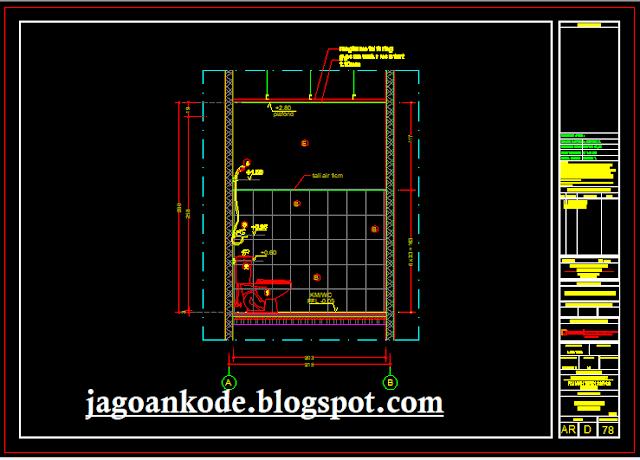 Detail Potongan Kamar Mandi/WC Lantai Bawah (Dipotong Dari kanan/kiri)