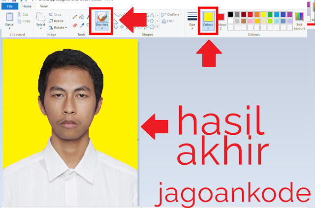 Cara Merubah Warna Background Foto Di Paint