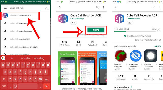 Cara Membuat Record Panggilan Telepon secara cepat Di android