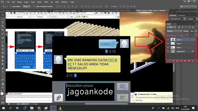 Cara Menggabungkan 2 layer Atau Lebih Menjadi Satu Layer Frame Di Photoshop