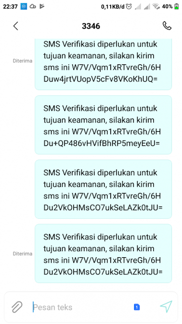 SMS Verifikasi Diperlukan Untuk Tujuan Keamanan