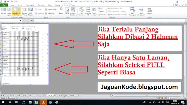 bagaimana cara print file excel
