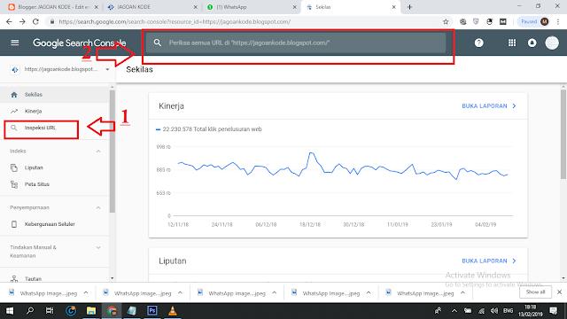 Cara Submit URL Artikel Baru Di Google Webmaster Versi Terbaru