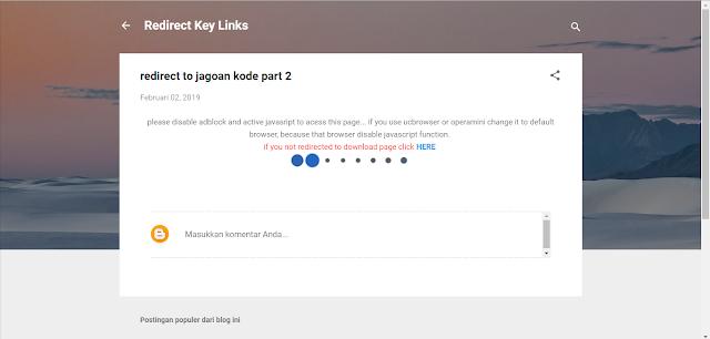 Pengalihan Link Javascript