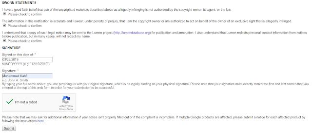 Laporkan Ke Google DMCA Jika Artikel Anda Di Copas