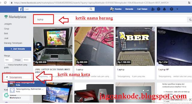 Cara Mencari Barang Seken Atau Baru Di Facebook