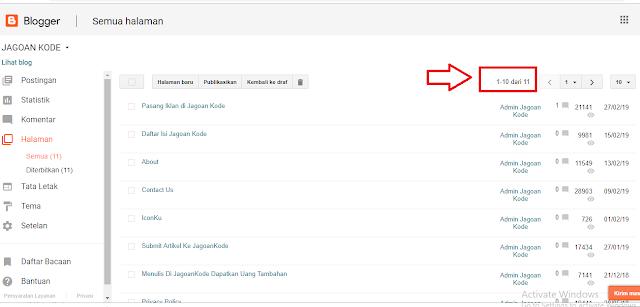 Cara Mudah Melihat Semua link halaman di blog
