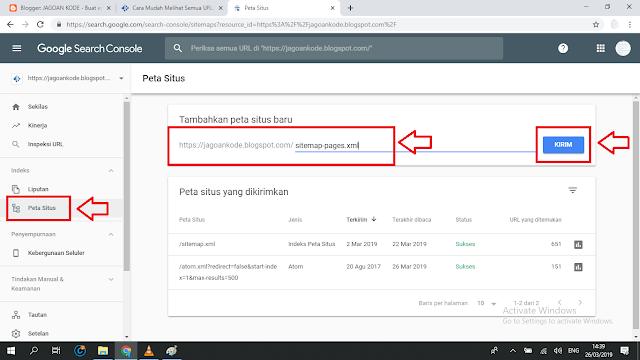 Cara Submit Sitemap Page Halaman Di Blogger