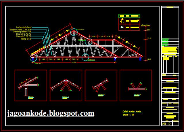 Detail Rangka Kuda-Kuda Atap Baja Ringan