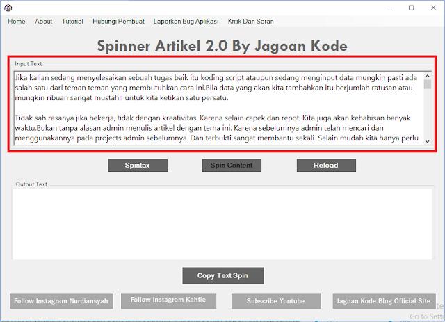 Cara Menggunakan Spinner Artikel Indonesia 2.0