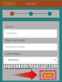 Step 1 Pendaftaran Mobile Banking