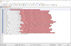 Cara extract Url Atau Link Dengan Notepad++