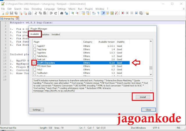 Cara Menambahkan Plugin TextFX Pada Notepad++