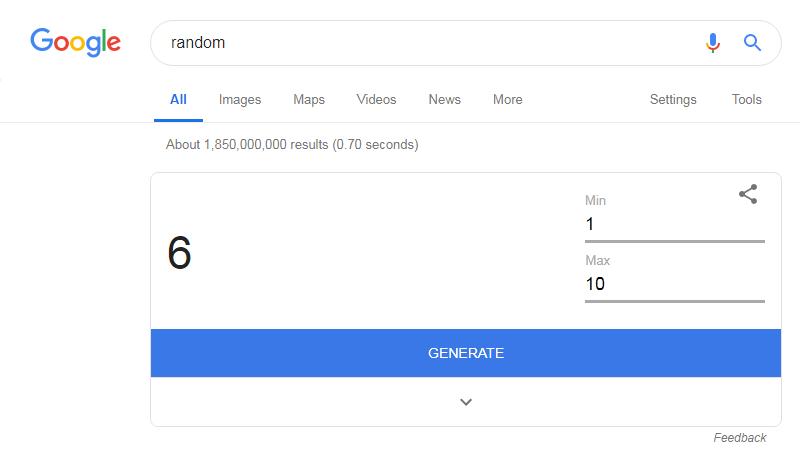Random Angka Menggunakan Tools Google