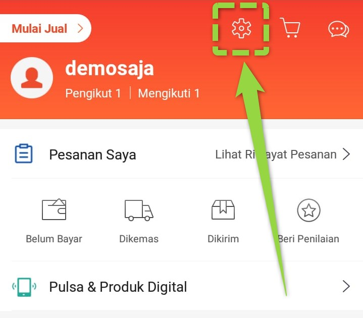 Pengaturan Shopee