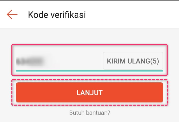 Kode OTP Sms Verifikasi Pendaftaran