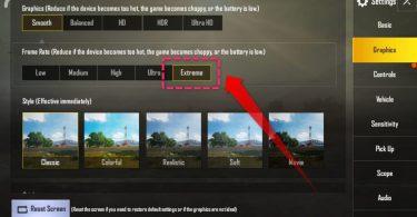 Cara Membuka Grapichs (HD) Extreme FPS di PUBG Mobile