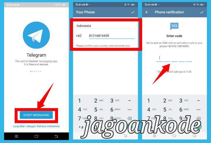 cara mendaftar di telegram messenger