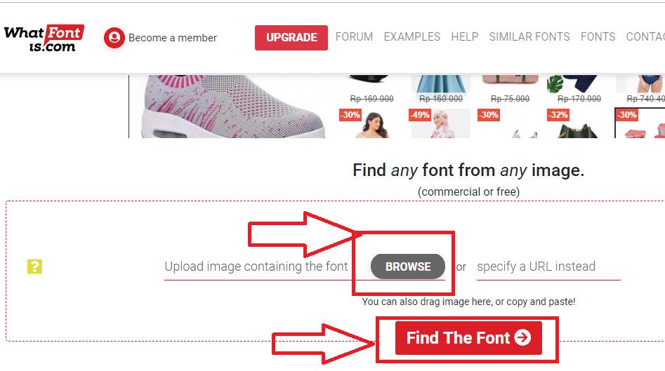 cara menemukan nama font pada gambar