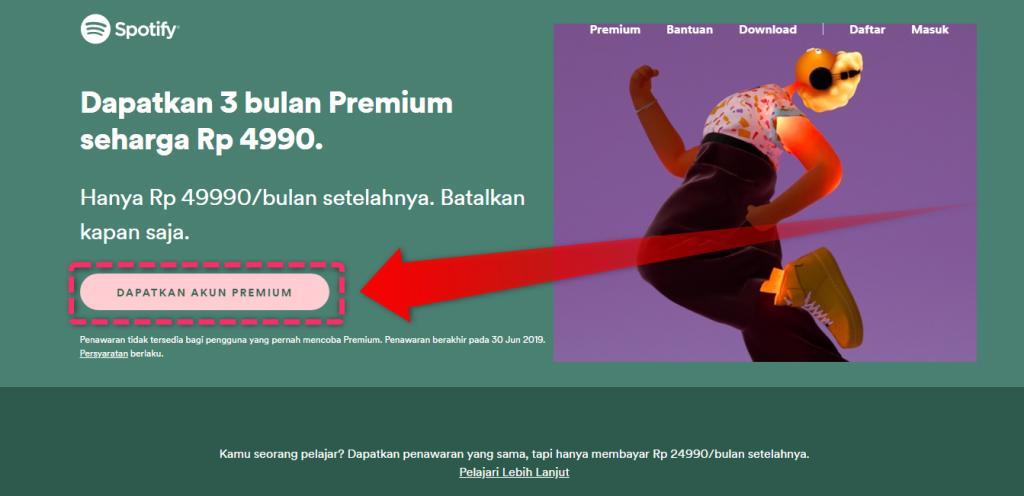Dapatkan Akun Premium
