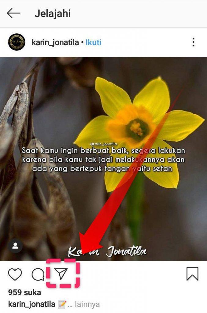 Tekan Logo Kirim Instagram