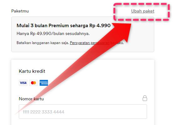 Ubah Paket Spotify